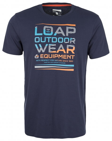 512b5629a triko krátké pánské LOAP BALCANO modré