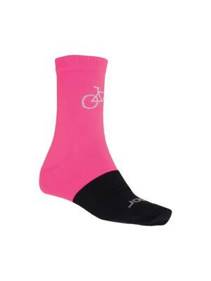 e2181c9ac8552 ponožky SENSOR TOUR MERINO růžovo/černé